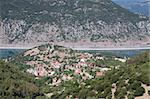 The town of Lidoriki, central Greece, close to an artificial lake Stock Photo - Royalty-Free, Artist: alexandr6868                  , Code: 400-05713591