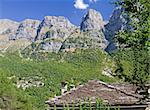 The Papigo village and rocks (called towers) behind a typical stone house of Zagori area, Greece Stock Photo - Royalty-Free, Artist: alexandr6868                  , Code: 400-05714271