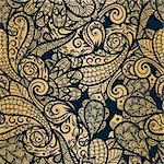 vector seamless paisley background Stock Photo - Royalty-Free, Artist: alexmakarova                  , Code: 400-05715396