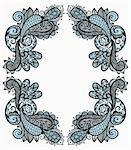 vector vintage paisley frame Stock Photo - Royalty-Free, Artist: alexmakarova                  , Code: 400-05715399