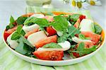 Traditional Italian Caprese Salad mozzarella with tomatoes and basil Stock Photo - Royalty-Free, Artist: Dream79                       , Code: 400-05715467