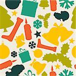 Seamless vector christmas pattern from various shapes Stock Photo - Royalty-Free, Artist: orsonsurf                     , Code: 400-05715746