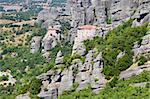 Monasteries on top of the famous rocks of Meteora, central Greece Stock Photo - Royalty-Free, Artist: alexandr6868                  , Code: 400-05715863