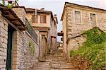 A paved alley of the village of Dilofo, Zagori area, northern Greece Stock Photo - Royalty-Free, Artist: alexandr6868                  , Code: 400-05715928