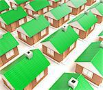 Illustration of many houses standing nearby Stock Photo - Royalty-Free, Artist: FotoVika                      , Code: 400-05715947