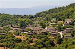 A panoramic view to the village of Papigo, in Zagori area, northern Greece Stock Photo - Royalty-Free, Artist: alexandr6868                  , Code: 400-05716201