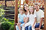Families with children in the gazebo Stock Photo - Royalty-Free, Artist: Deklofenak                    , Code: 400-05717355