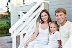 Happy family on the porch Stock Photo - Royalty-Free, Artist: Deklofenak                    , Code: 400-05717368