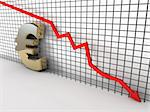 Euro chart is going down and hits the ground Stock Photo - Royalty-Free, Artist: novelo                        , Code: 400-05718014