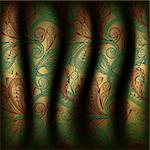 eps10, vector paisley curtain background Stock Photo - Royalty-Free, Artist: alexmakarova                  , Code: 400-05718020