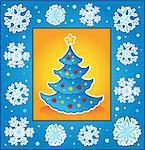 Christmas theme greeting card 5 - vector illustration. Stock Photo - Royalty-Free, Artist: clairev                       , Code: 400-05718973