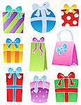 Various decorated gifts 2 - vector illustration. Stock Photo - Royalty-Free, Artist: clairev                       , Code: 400-05718993