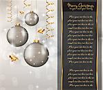 Elegant Classic Christmas Greetings background for flyers, invitations, cards or posters. Stock Photo - Royalty-Free, Artist: DavidArts                     , Code: 400-05719072