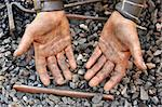 Detail of dirty hands - blacksmith Stock Photo - Royalty-Free, Artist: brozova                       , Code: 400-05719089