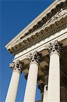 symbol of Greek architecture with columns and pediment Stock Photo - Royalty-Freenull, Code: 400-05719168