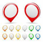 Vector set of map markers Stock Photo - Royalty-Free, Artist: _human                        , Code: 400-05719474