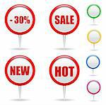 Vector Round Labels Stock Photo - Royalty-Free, Artist: _human                        , Code: 400-05719534