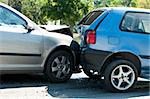Two crashed cars close up Stock Photo - Royalty-Free, Artist: deyangeorgiev                 , Code: 400-05719664