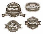Old dark retro vintage grunge labels - premium quality Stock Photo - Royalty-Free, Artist: orsonsurf                     , Code: 400-05719980