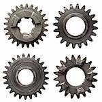 Machine gear, metal cogwheels. Isolated on white. Stock Photo - Royalty-Free, Artist: donatas1205                   , Code: 400-05719990