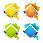 Square backgrounds with rainbow on white Stock Photo - Royalty-Free, Artist: Merlinul                      , Code: 400-05720661