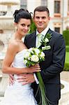Happy young couple just married - wedding day   Stock Photo - Royalty-Free, Artist: frantysek                     , Code: 400-05721281