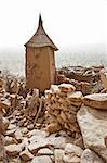 Granaries in a Dogon village, Mali (Africa).  The Dogon are best known for their mythology, their mask dances, wooden sculpture and their architecture. Stock Photo - Royalty-Free, Artist: michelealfieri                , Code: 400-05721341