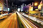 traffic at city at night Stock Photo - Royalty-Free, Artist: leungchopan                   , Code: 400-05721481