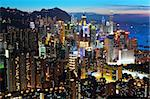 Hong Kong at night Stock Photo - Royalty-Free, Artist: leungchopan                   , Code: 400-05721487