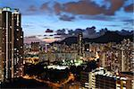 kowloon at night Stock Photo - Royalty-Free, Artist: leungchopan                   , Code: 400-05721495