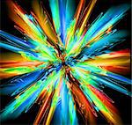 abstract color explode generated by the computer Stock Photo - Royalty-Free, Artist: jonnysek                      , Code: 400-05721551