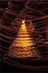 christmas tree from the color xmas lights Stock Photo - Royalty-Free, Artist: jonnysek                      , Code: 400-05721561