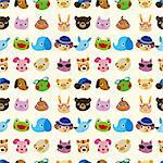 cartoon animal seamless pattern Stock Photo - Royalty-Free, Artist: notkoo2008                    , Code: 400-05721614