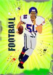 American football sport poster. Vector illustration Stock Photo - Royalty-Free, Artist: leonido                       , Code: 400-05721735