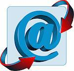 At mail sign contact vector icon Stock Photo - Royalty-Free, Artist: leonido                       , Code: 400-05721736