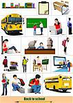 Back to school. Big set of School images. Vector Stock Photo - Royalty-Free, Artist: leonido                       , Code: 400-05721834