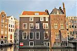 Amsterdam. Old houses on the canal Oude Zijds Vorburg Wal Stock Photo - Royalty-Free, Artist: TatyanaSavvateeva             , Code: 400-05722419