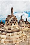 Stupas at Borobudur temple. Central Java. Indonesia Stock Photo - Royalty-Free, Artist: GoodOlga                      , Code: 400-05722886