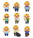 cartoon worker icon   Stock Photo - Royalty-Free, Artist: notkoo2008                    , Code: 400-05723000