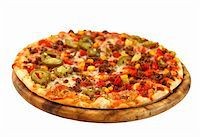 Tradition Mexican pizza with chili, beef and onion Stock Photo - Royalty-Freenull, Code: 400-05723124
