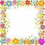 A Floral Border with Flowers and Leaves Stock Photo - Royalty-Free, Artist: Binkski                       , Code: 400-05724232