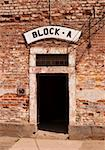 The entrance door to the cells in Block A at the Theresienstadt concentration camp in what is now the Czech Republic. The dark black opening, framed by red bricks, is an ominous sign of what took place behind the door. Stock Photo - Royalty-Free, Artist: searagen                      , Code: 400-05725714