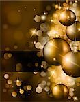 Elegant Classic Christmas Greetings background for flyers, invitations, cards or posters. Stock Photo - Royalty-Free, Artist: DavidArts                     , Code: 400-05725946