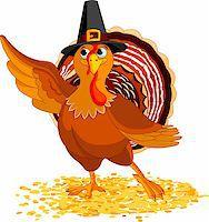 Illustration of Happy Thanksgiving Turkey presenting Stock Photo - Royalty-Freenull, Code: 400-05726027