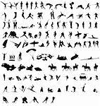 large set of sportsilhouettes Stock Photo - Royalty-Free, Artist: kamphi                        , Code: 400-05726966