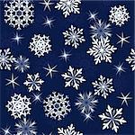 Seamless snowflakes background for winter and christmas theme Stock Photo - Royalty-Free, Artist: angelp                        , Code: 400-05728528