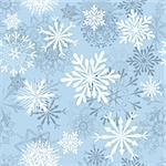 Seamless snowflakes background for winter and christmas theme Stock Photo - Royalty-Free, Artist: angelp                        , Code: 400-05728529