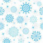 Seamless snowflakes background for winter and christmas theme Stock Photo - Royalty-Free, Artist: angelp                        , Code: 400-05728530