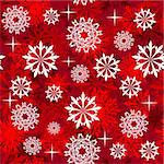 Seamless snowflakes background for winter and christmas theme Stock Photo - Royalty-Free, Artist: angelp                        , Code: 400-05728531