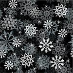 Seamless snowflakes background for winter and christmas theme Stock Photo - Royalty-Free, Artist: angelp                        , Code: 400-05728532